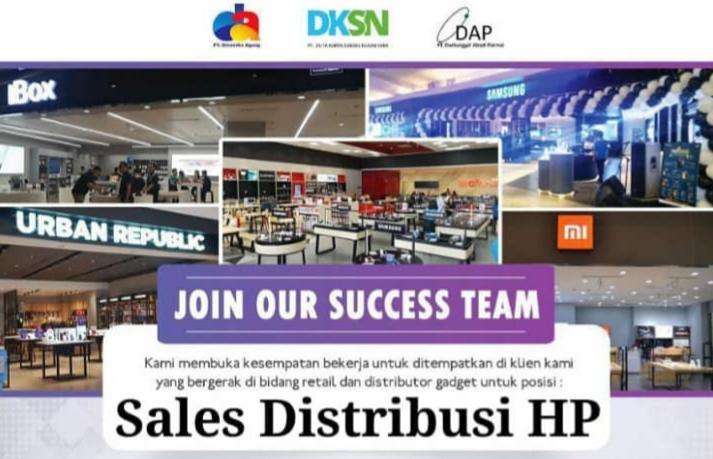 PT Dinamika Agung Membuka Kesempatan Kerja Untuk Posisi Sales Distribusi HP di Kudus
