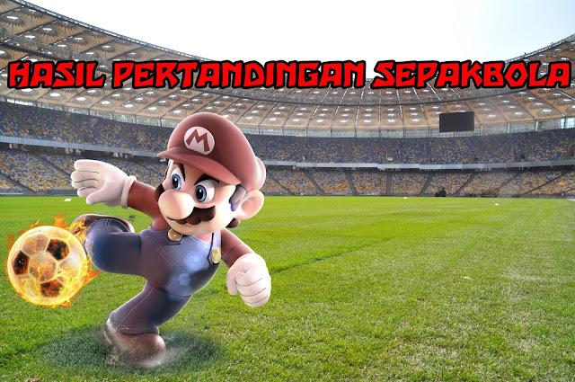 Hasil Pertandingan Sepakbola 11 - 12 Juni 2018