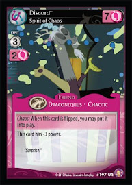 My Little Pony Discord, Spirit of Chaos Absolute Discord CCG Card
