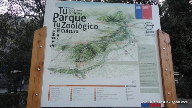 Mapa do Parque Metropolitano