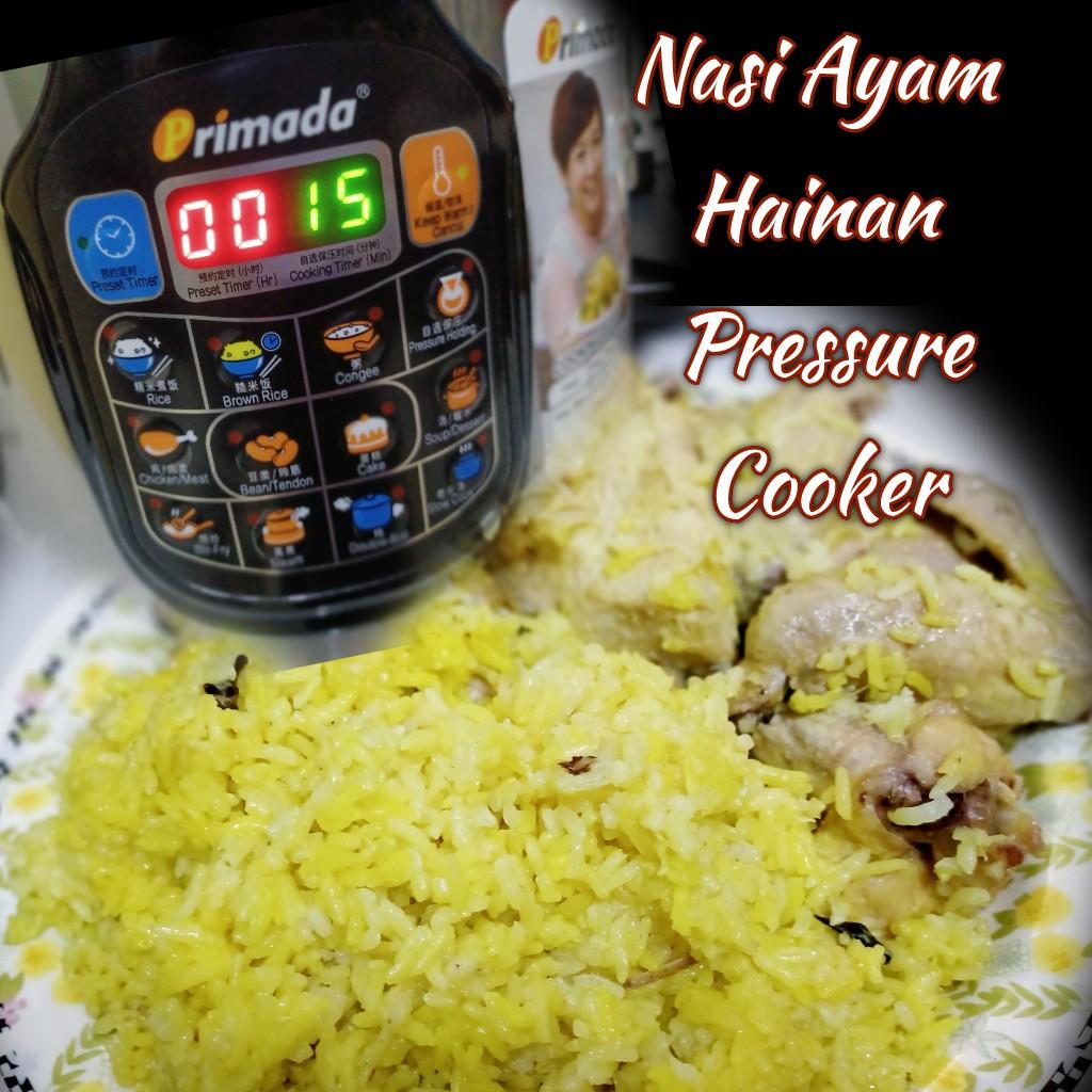 Nasi Ayam Hainan Masak Dengan Primada Pressure Cooker
