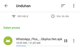 proses download whatsapp plus