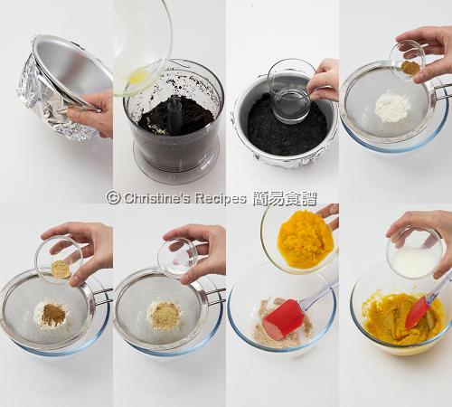 南瓜芝士蛋糕配焦糖汁製作圖 Pumpkin Cheesecake Procedures01