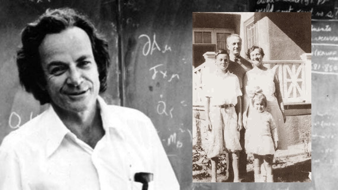 richard feynman and his father on father's day