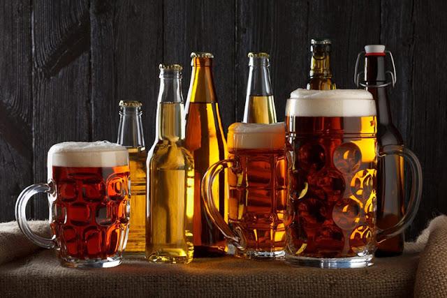 Diferentes tipos de cerveja em Munique
