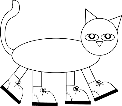 i love my white shoes pete the cat coloring page colorings net