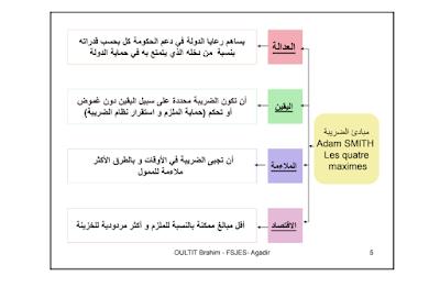 ملخص جميل ومميز على شكل خطاطات للقانون الضريبي الفصل الرابع S2
