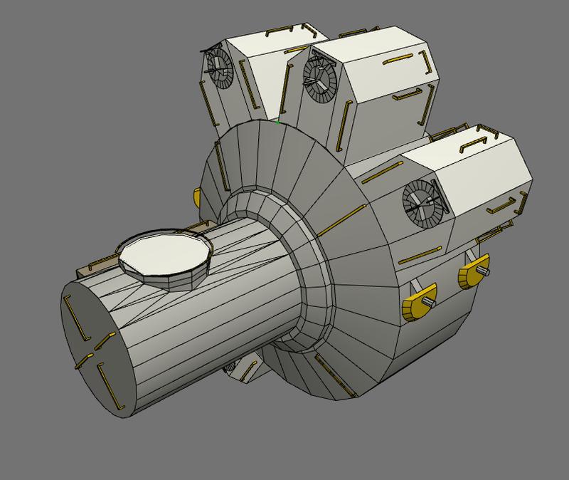 Desktopsimmer's 3D Models: ISS Low Res Model Quest Joint ...