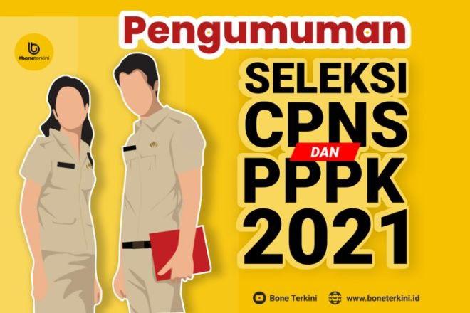 Cek di Sini Pengumuman Hasil Seleksi Administras Berkas CPNS dan PPPK 2021 Kabupaten Bone