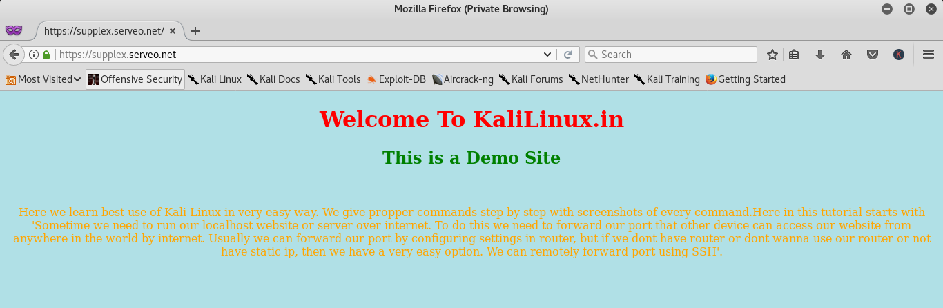 Easy Port Forwarding using SSH | Kali Linux - Kali Linux Tutorials