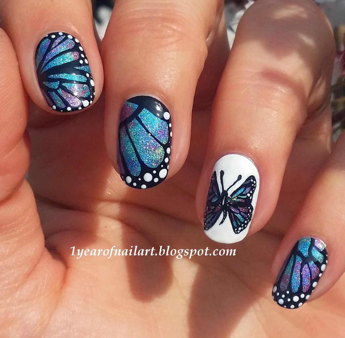 Butterfly Nail Art: 365+ Days Of Nail Art: Butterfly Nails