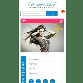 theme blog bán hàng thời trang mỹ phẩm
