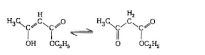 The enolic form of ethyl acetoacelate