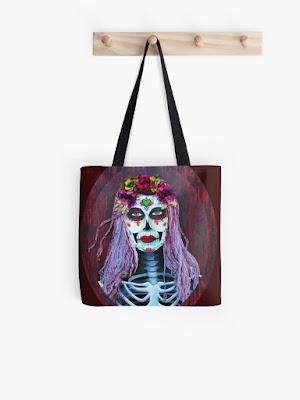 day of the dead catrina skull bag