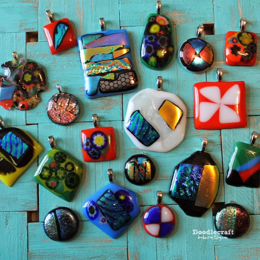 Glass Pendant Craft Supplies