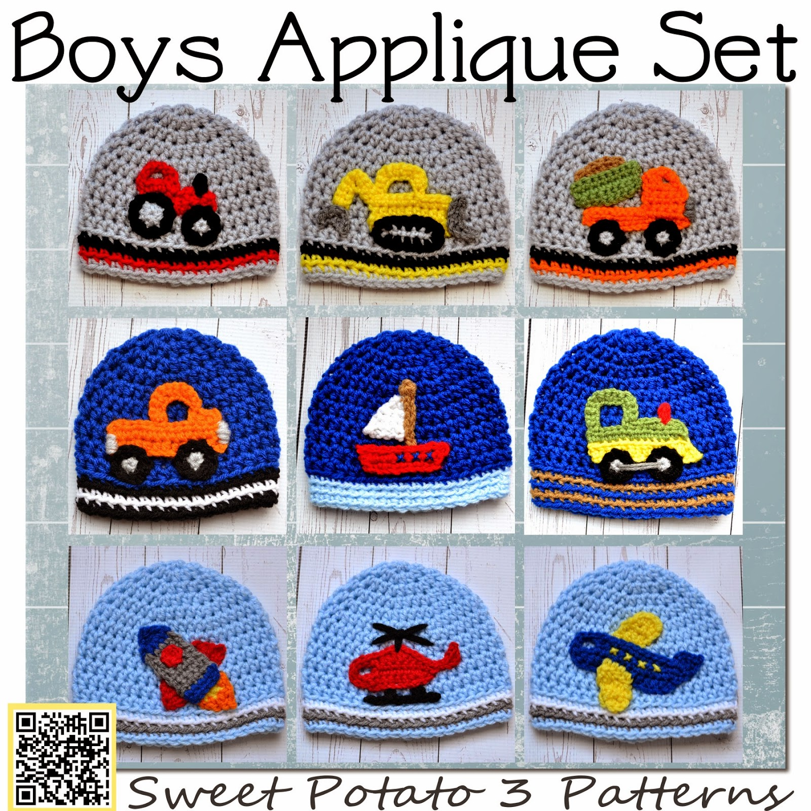 All Boy Applique Crochet Patterns
