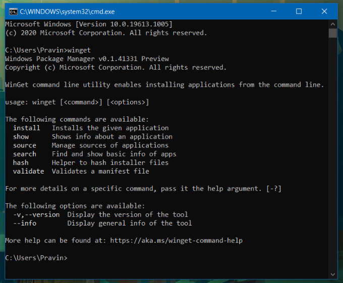 Windows Package Manager Installation
