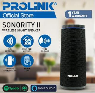 Prolink Wireless Smart Speaker - SONORiTY ll - PSB8602E (Alexa built-in)