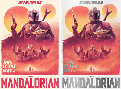 "The Mandalorian ""This Is The Way"" Screen Print by Tom Walker x Bottleneck Gallery"