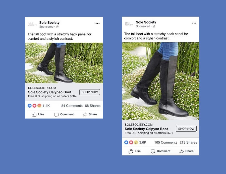 Defaulting to Flexible Image Aspect Ratio for Image Link Ads on Facebook