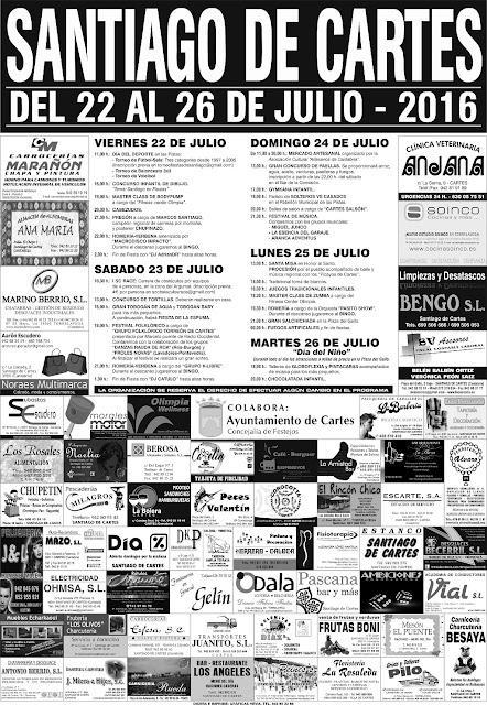 Fiestas de Santiago 2016 en Cartes
