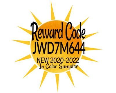 May Reward Code - JWD7M644 | Use when you shop with Nicole Steele The Joyful Stamper to receive an 2020-2022 New In Color sampler