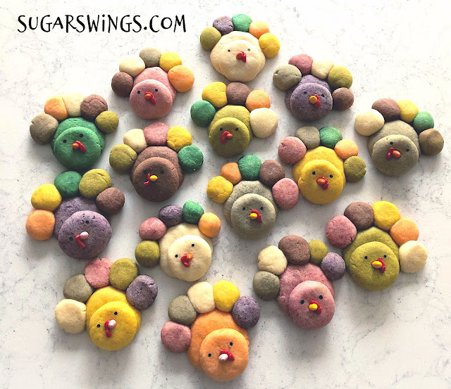 kawaii turkey cookies
