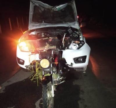 Em Jacaré dos Homens/AL, colisão entre carro e moto deixa uma pessoa morta na AL-220