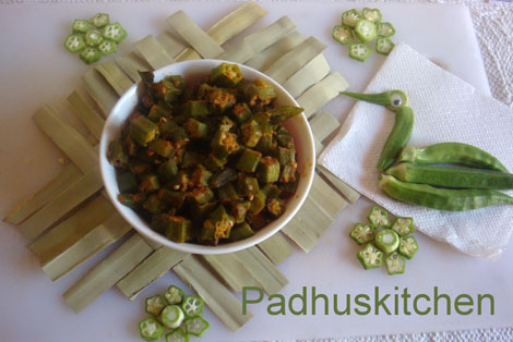 Lady's finger Curry-Vendakkai Poriyal-Okra Curry