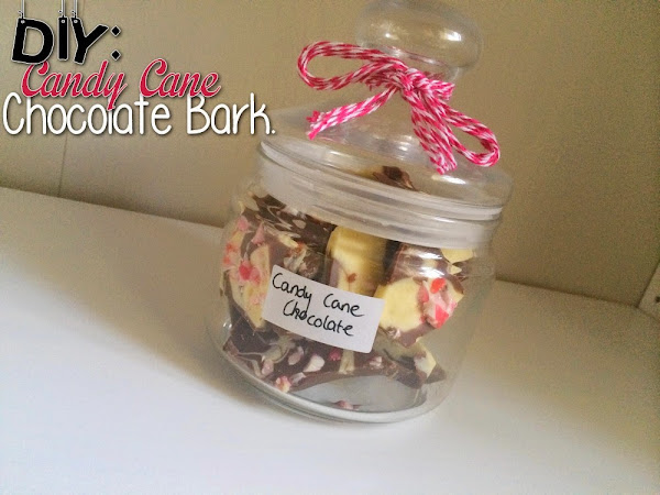 7 WEEKS TILL CHRISTMAS | DIY: Candy Cane Chocolate Bark.
