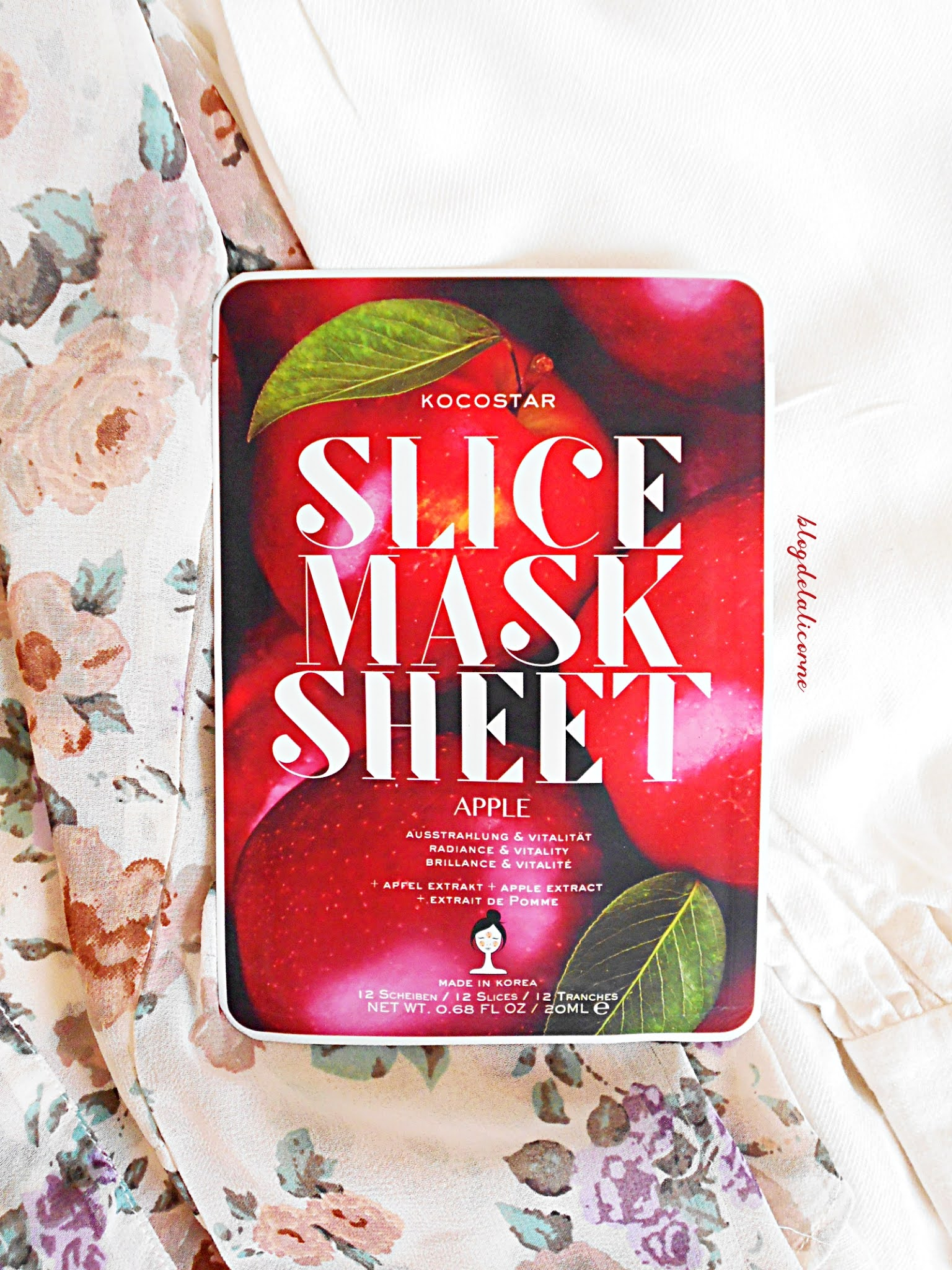 KOCOSTAR Slice Mask Sheet Apple plátenná maska recenzia