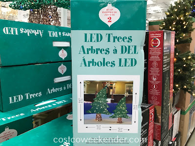 Costco 1900290 - LED Trees (set of 2): an ideal addition to your Christmas decorations