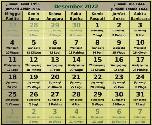 download kalender desember 2022