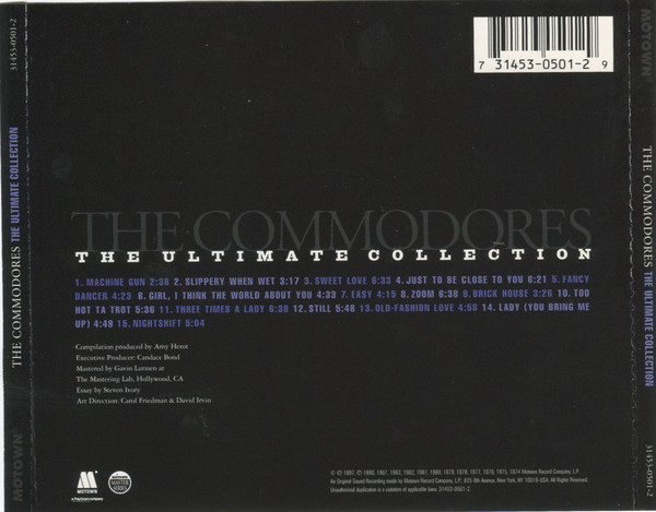Commodores Ultimate Collection: The Ultimate Collection (1997