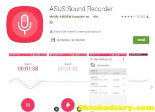 Aplikasi perekam suara Android ASUS Sound Recorder
