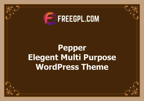 Pepper - Elegent Multi Purpose WordPress Theme Free Download