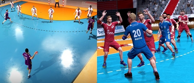 Comparison of Handball 21 vs Handball 17 in gameplay