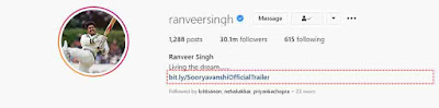 Ranveer Singh Instagram