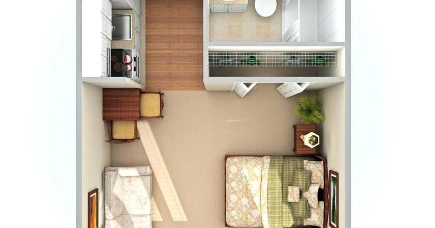 300 Square Feet Studio Unique Kitchen