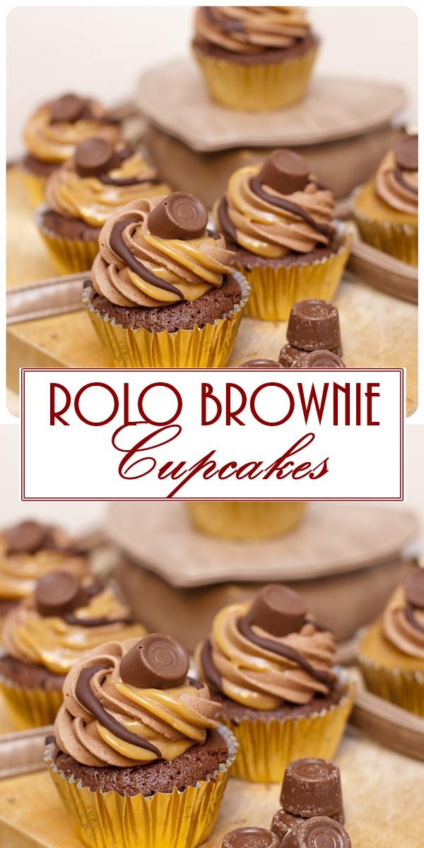 Rolo Brownie Cupcakes #Cupcakesrecipes