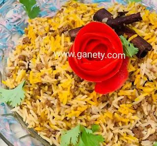 طريقة عمل الأرز البسمتى بخلطة اللحمة المفرومة