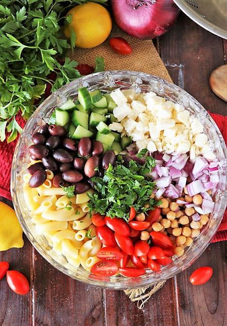 How to Make Greek Macaroni Salad Image