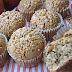 Muffins con avena rellenos de apfelmus