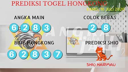 Prediksi Togel Angka Jadi Hongkong Kamis 16 Juli 2020