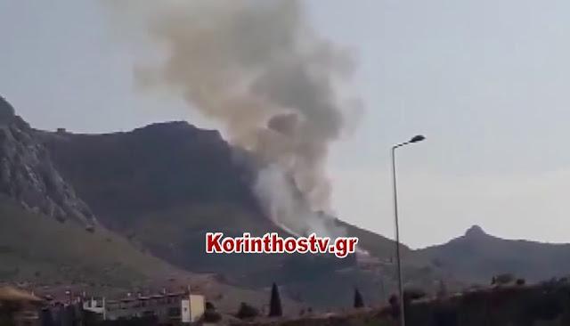 Ενισχύσεις της πυροσβεστικής από την Αργολίδα για πυρκαγιά στην Αρχαία Κόρινθο
