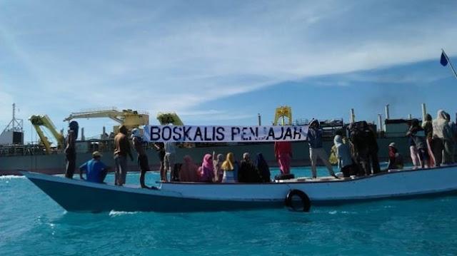 Protes Nelayan dan Aktivis Dibalas Pukulan dan Injakan Oknum Polair Sulsel
