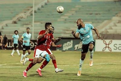ملخص وهدف فوز غزل المحلة علي الاهلي (1-0) الدوري المصري