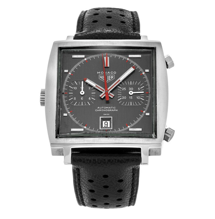 a14bb40991f Heuer Monaco 1133B - 1969. Monaco 1133G with an all-grey dial  an  alternative version with grey dial and black chronograph counters was added  later