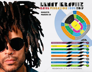 POS3 Concierto de Lenny Kravitz en Bogotá 2019