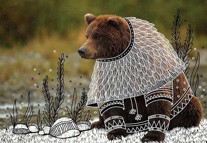Disfraces decorativos ilustrados en fotos de animales por Rohan Sharad Dahotre
